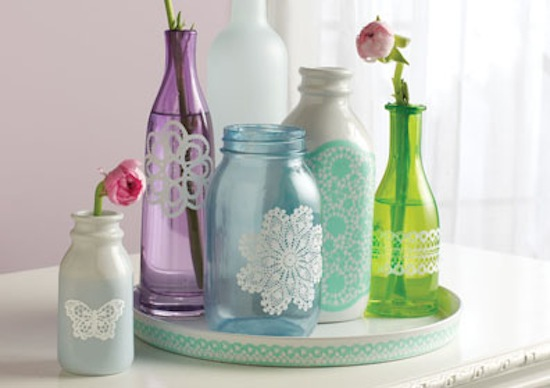 Martha Stewart Painting Glass Bottles